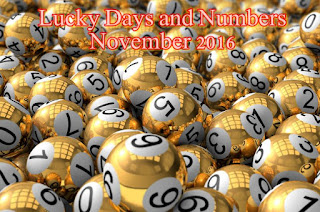 Lucky Days and Numbers for each sign for November 2016