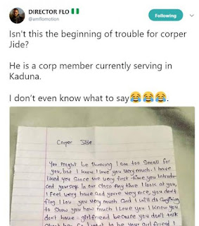 Secondary School Female Students Writes Love Letter To Corper