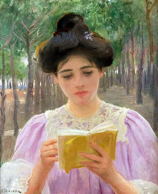 Lectura, Laureano Barrau Buñol, Pintor Catalán, Pintor español, Cuadros de Laureano Barrau Buñol, Barrau Buñol,  Laureano Barrau