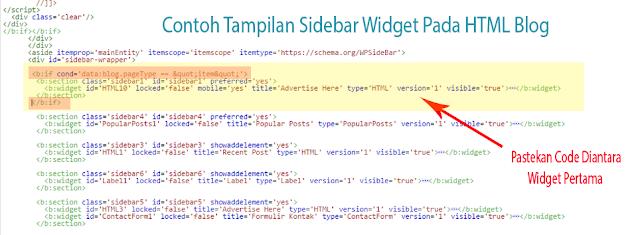Pastekan kode diatas html widget