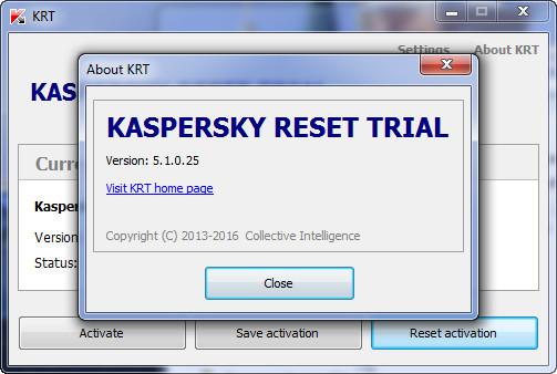 Kaspersky Trial Reset Versi 5.1.0.29 Terbaru