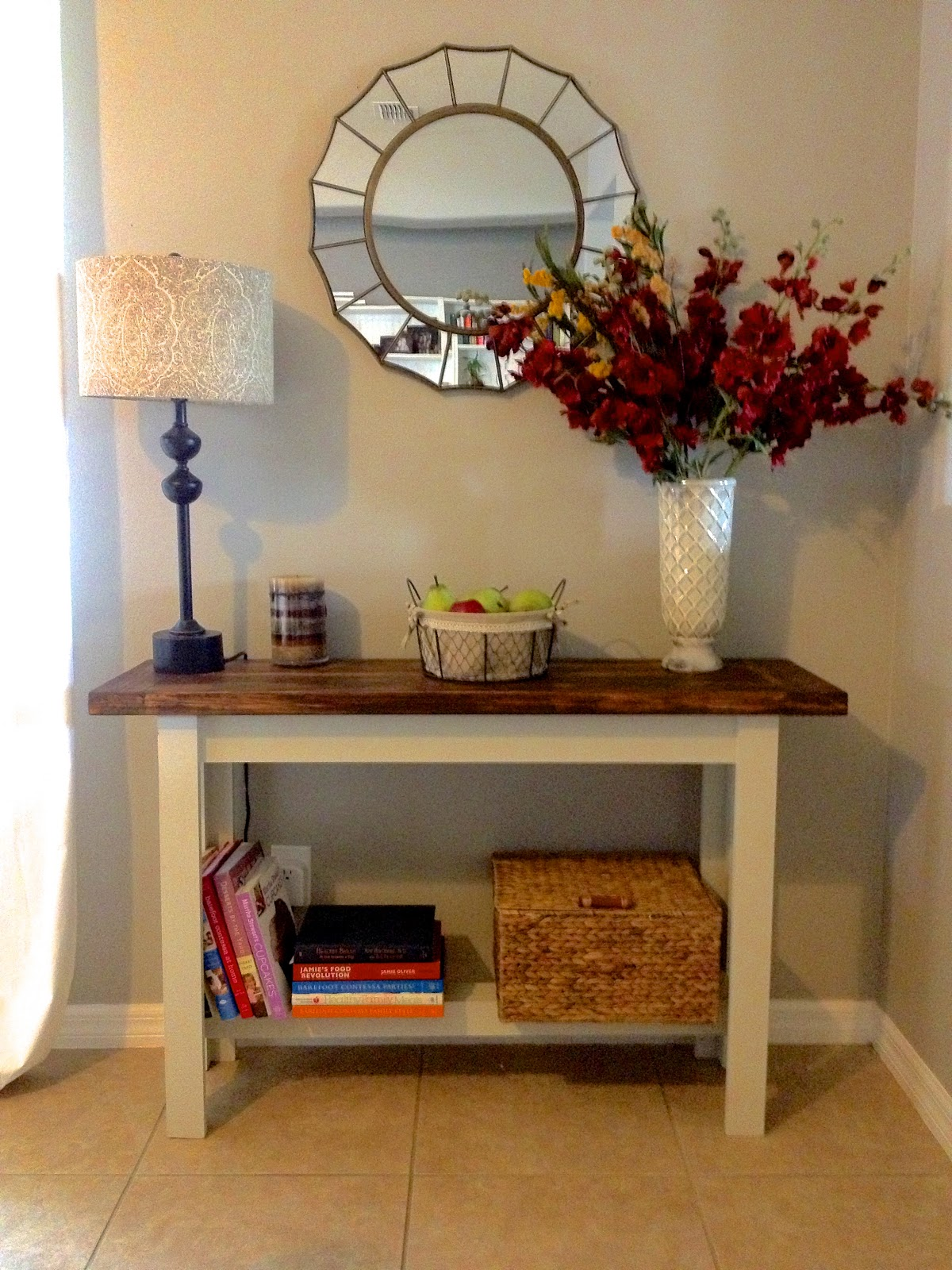 Building the Hyde Pottery Barn console table Overthrow Martha
