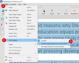 طريقة تحويل ملفات pdf المحفوظة من Scanner الى word