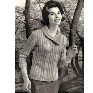 Double breasted knit cardigan pattern No 732-15