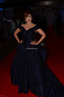 Payal Ghosh aka Harika in Dark Blue Deep Neck Sleeveless Gown at 64th Jio Filmfare Awards South 2017 ~  Exclusive 006.JPG