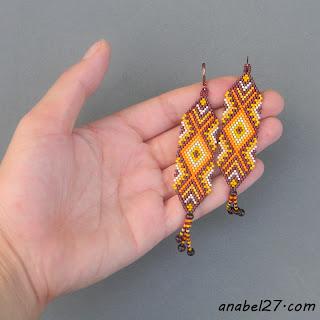 украшения от Anabel - серьги из бисера цена