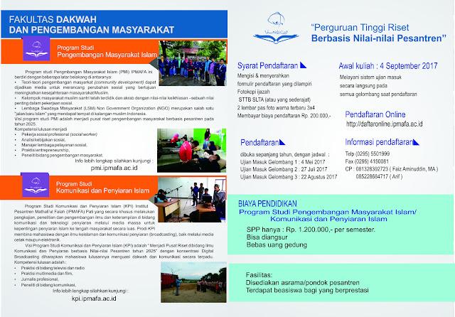 Brosur PMB Fakultas Dakwah