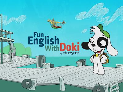 FUN ENGLISH WITH DOKI convida as crianças a aprender o idioma em dispositivos móveis através de jogos divertidos com Doki e seus amigos. - Divulgação