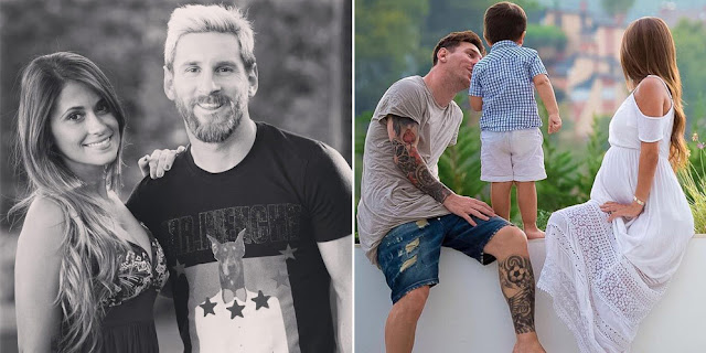 Lionel Messi dan Antonella Roccuzzo