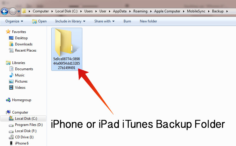delete iphone backup on mac