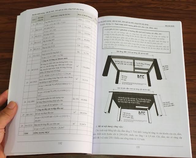 Sách đo bóc khối lượng dự toán
