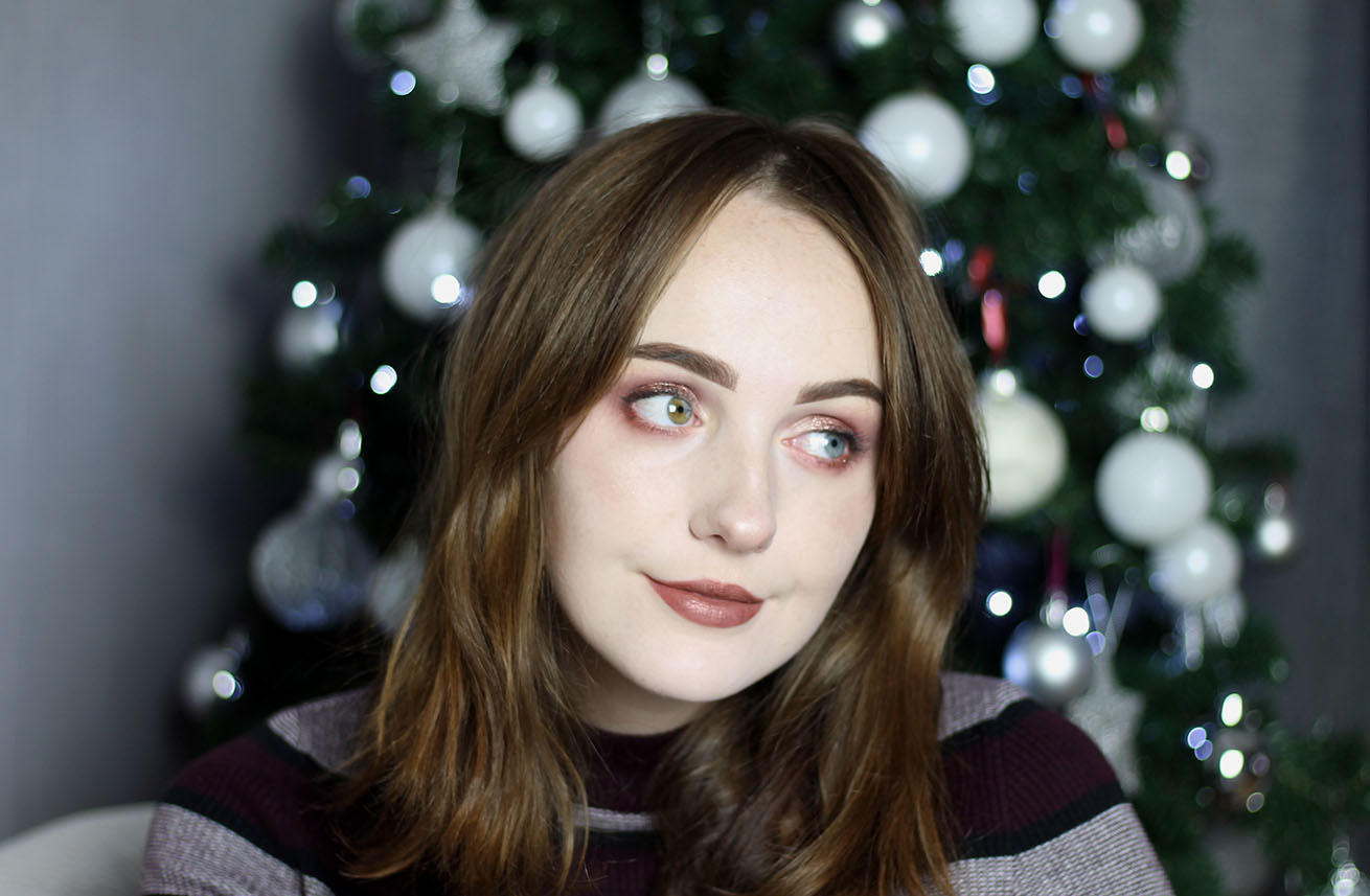 liverpool blogger Christmas pink makeup