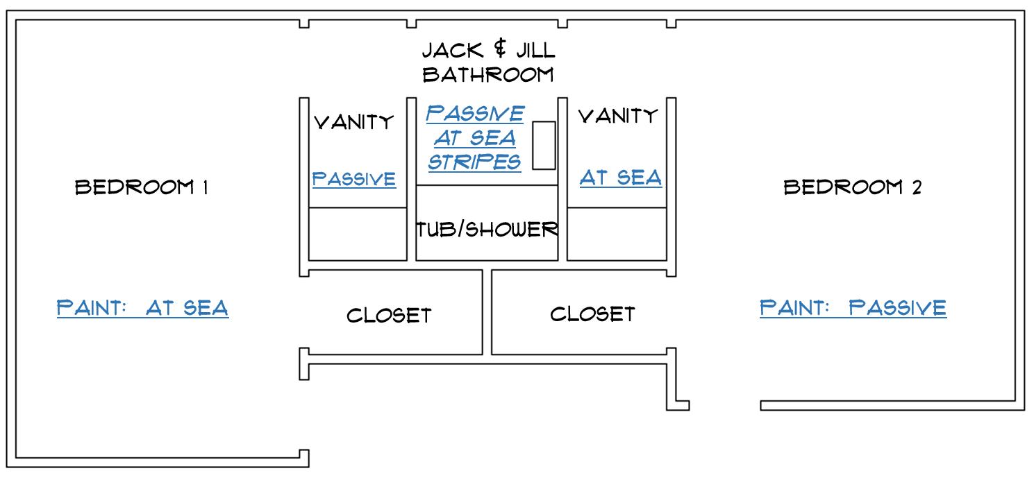 Jessica Stout Design}: Jack & Jill Bathroom Stripes