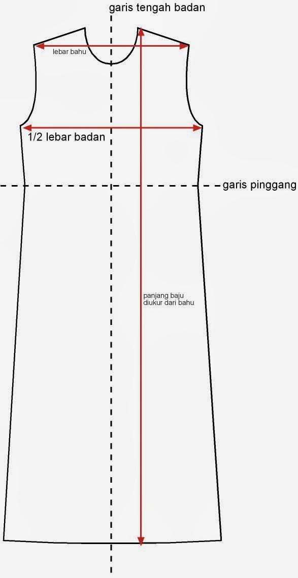 Cara membuat pola dan menjahit dress anak perempuan model kimono dengan mesin jahit mini portable