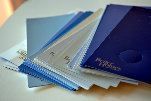 Pick up paint swatches at any local paint store, home store, or Wal-Mart