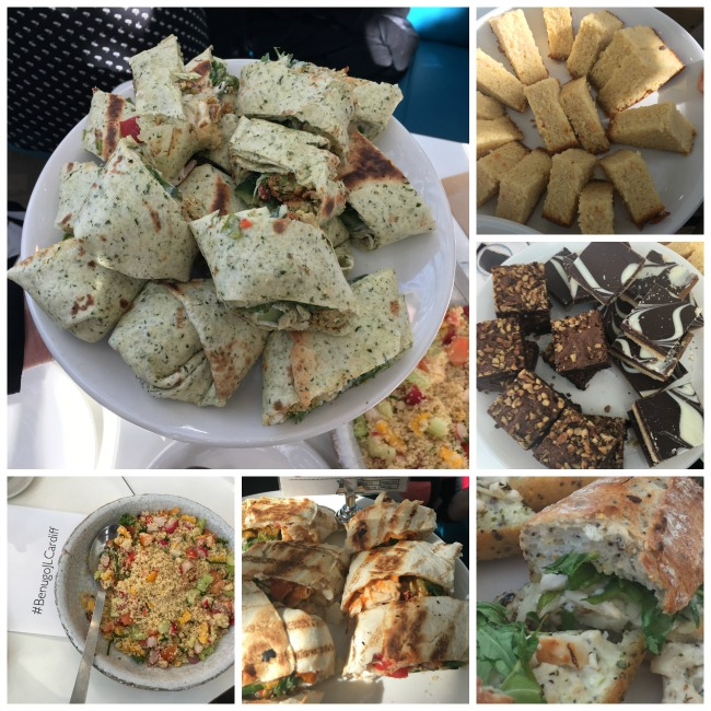 Bloggers-Lunch-at-Benugo-John-Lewis-Cardiff-collage-of-plated-wraps-and-baguettes