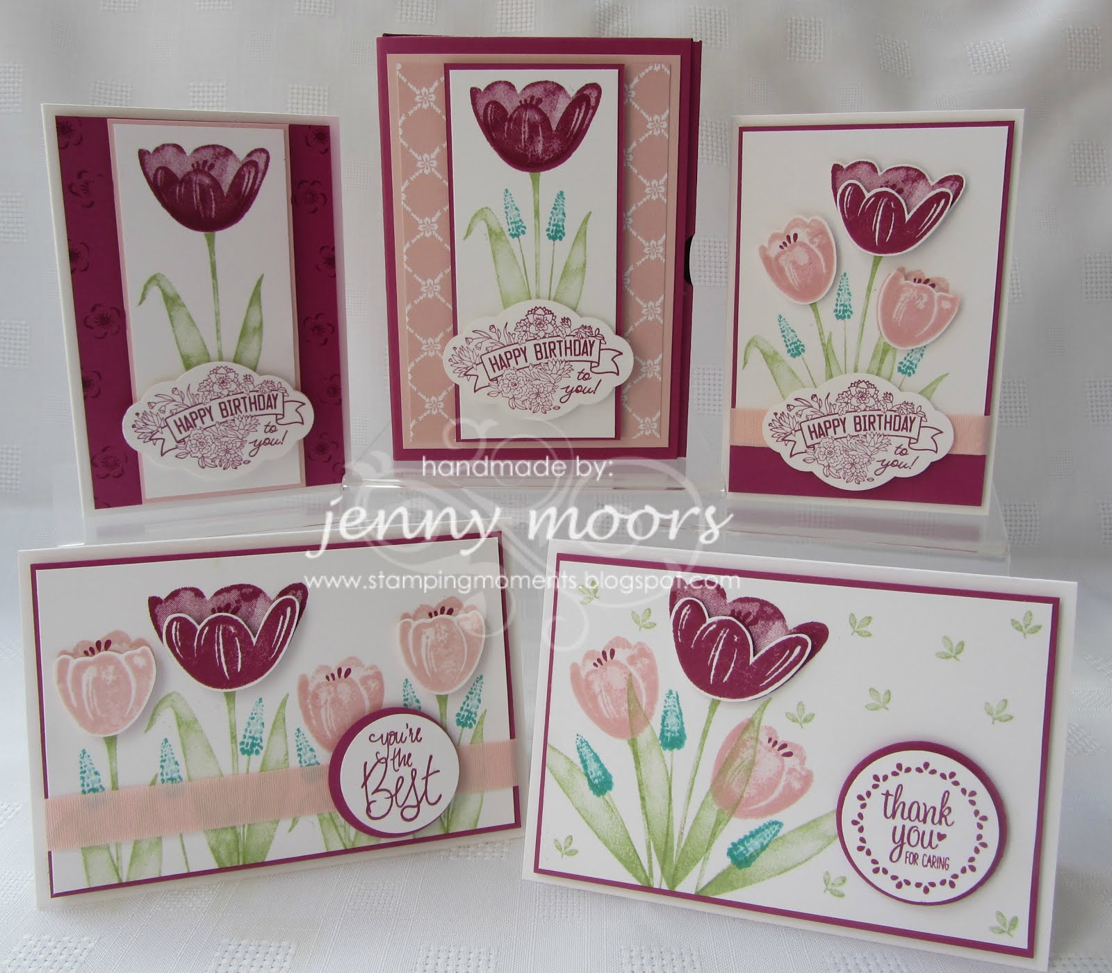 Tranquil Tulip Stamp Class Instructions
