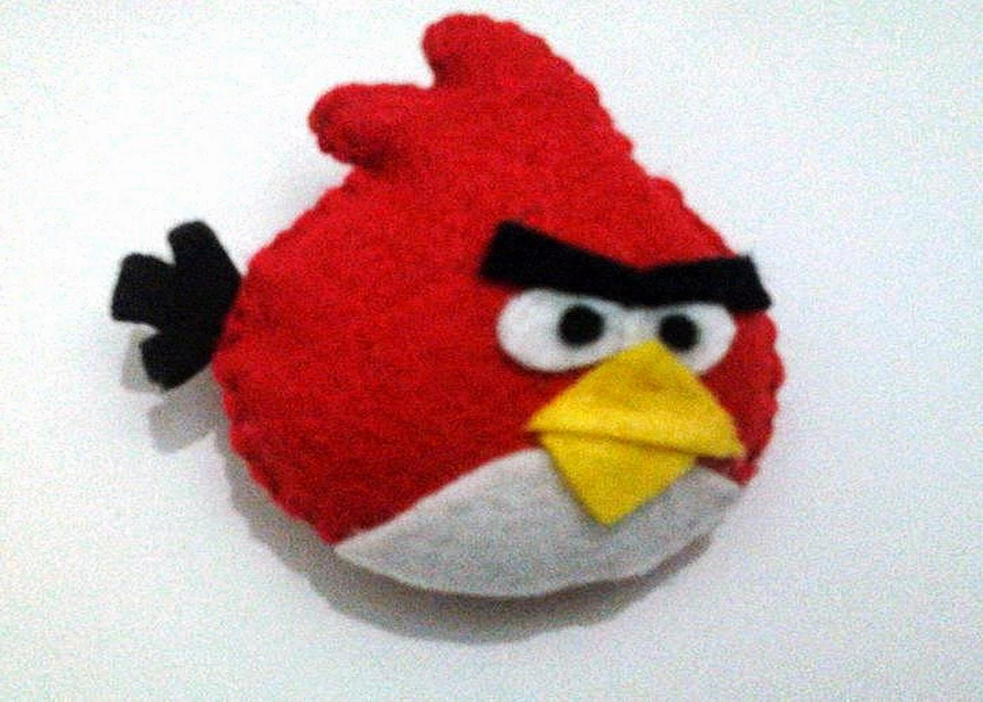 Cara Membuat Boneka Angry Bird dari Kain Flanel - Tutorial