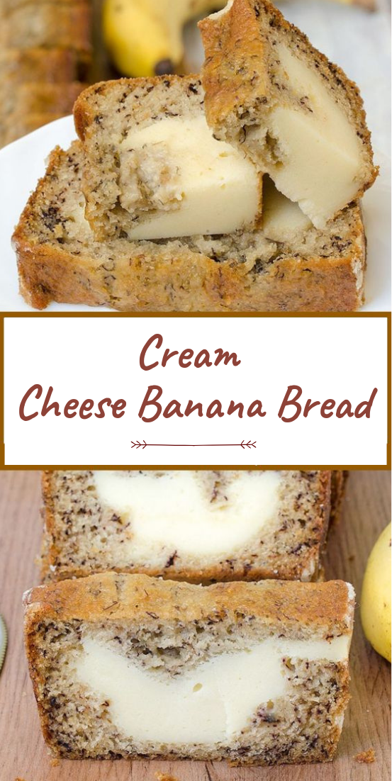 Cream Cheese Banana Bread #cakerecipe #chocolate