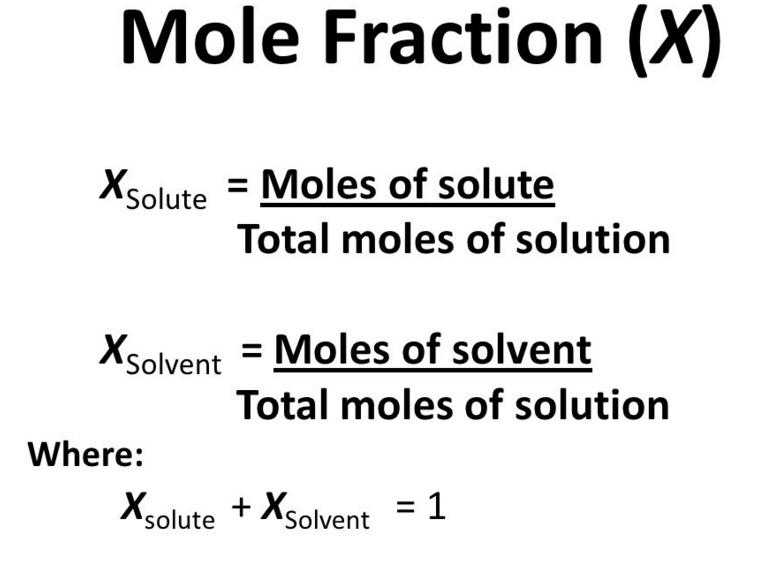 Concentration:> Mole fraction ~ Educational Revolution