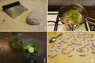 foto preparazione ricetta trofie la pesto per bambini
