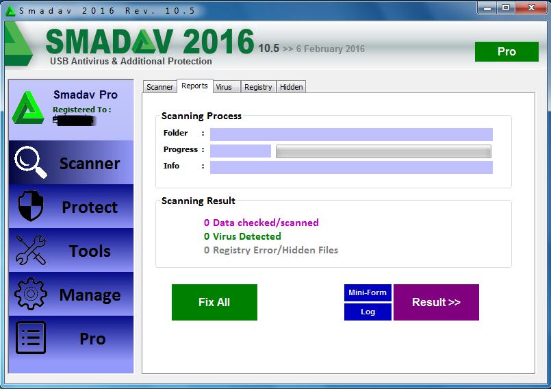smadav 2016 rev 10.5 registration key
