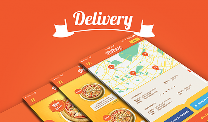 Delivery iPhone App UI Kit