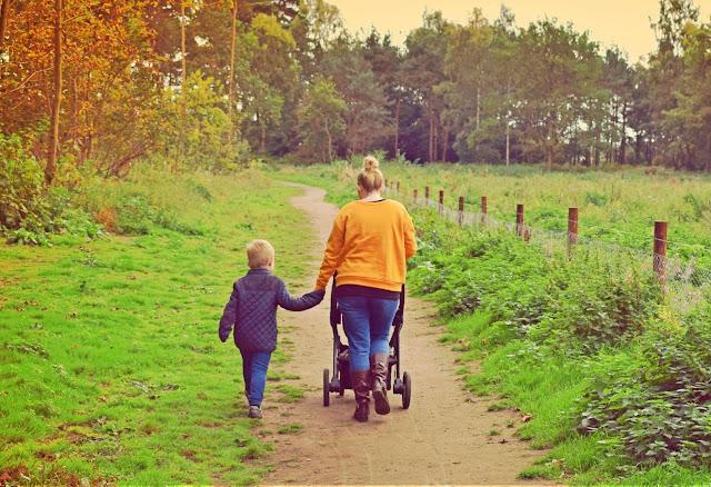 Mother, Son, Walk, Parenting