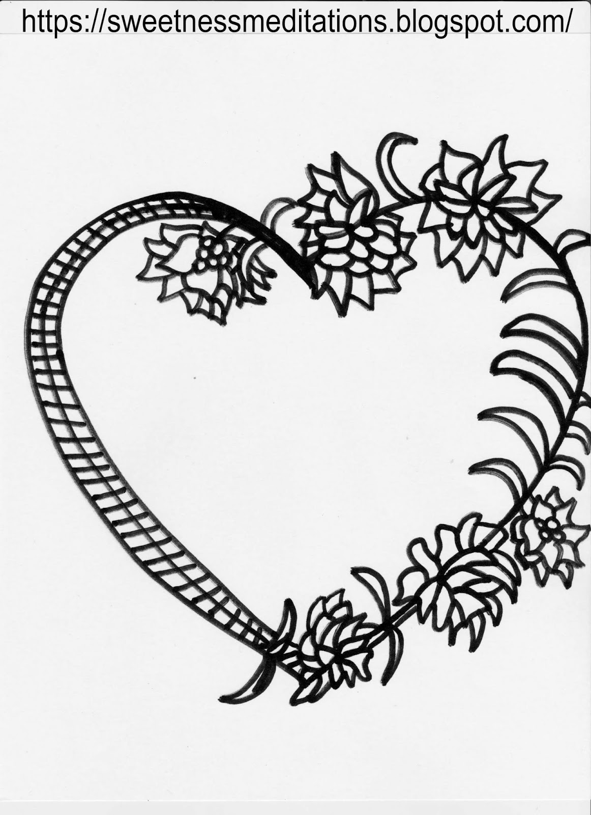 Sweetness Meditations Free Valentine S Day Coloring Pages