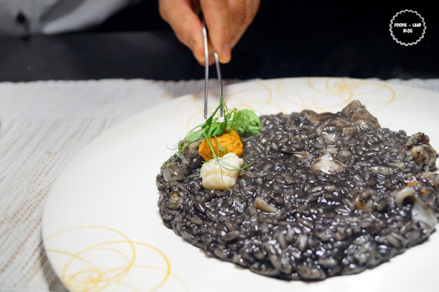 Black ink risotto with seafood and squid dumpling @The Risotto Fare @ Ottimo | ITC Gardenia | Bangalore