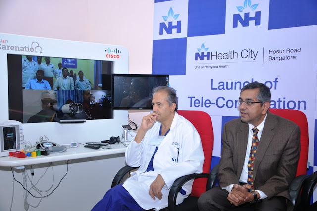 Pic2-L to R- Dr. Devi Shetty, Chairman, Narayana Health,  Mr. VC Gopalratnam, CIO, APJC, President, IT and Chief of Strategy, Planning an