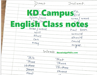KD Campus English Class Notes PDF