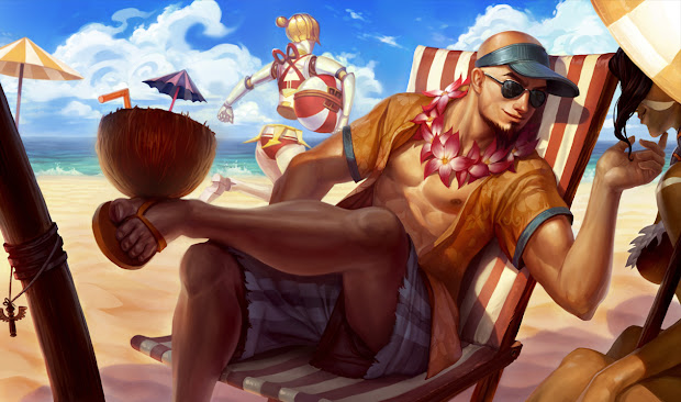 Skin Lee Sin Tiệc Bể Bơi