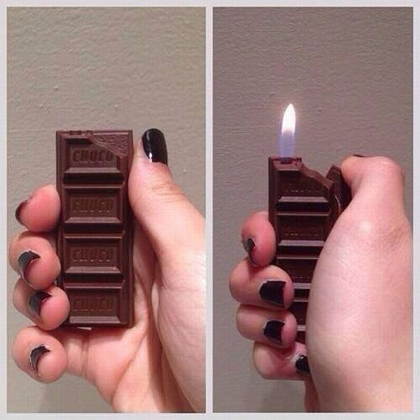lighter looks like chocolate bar