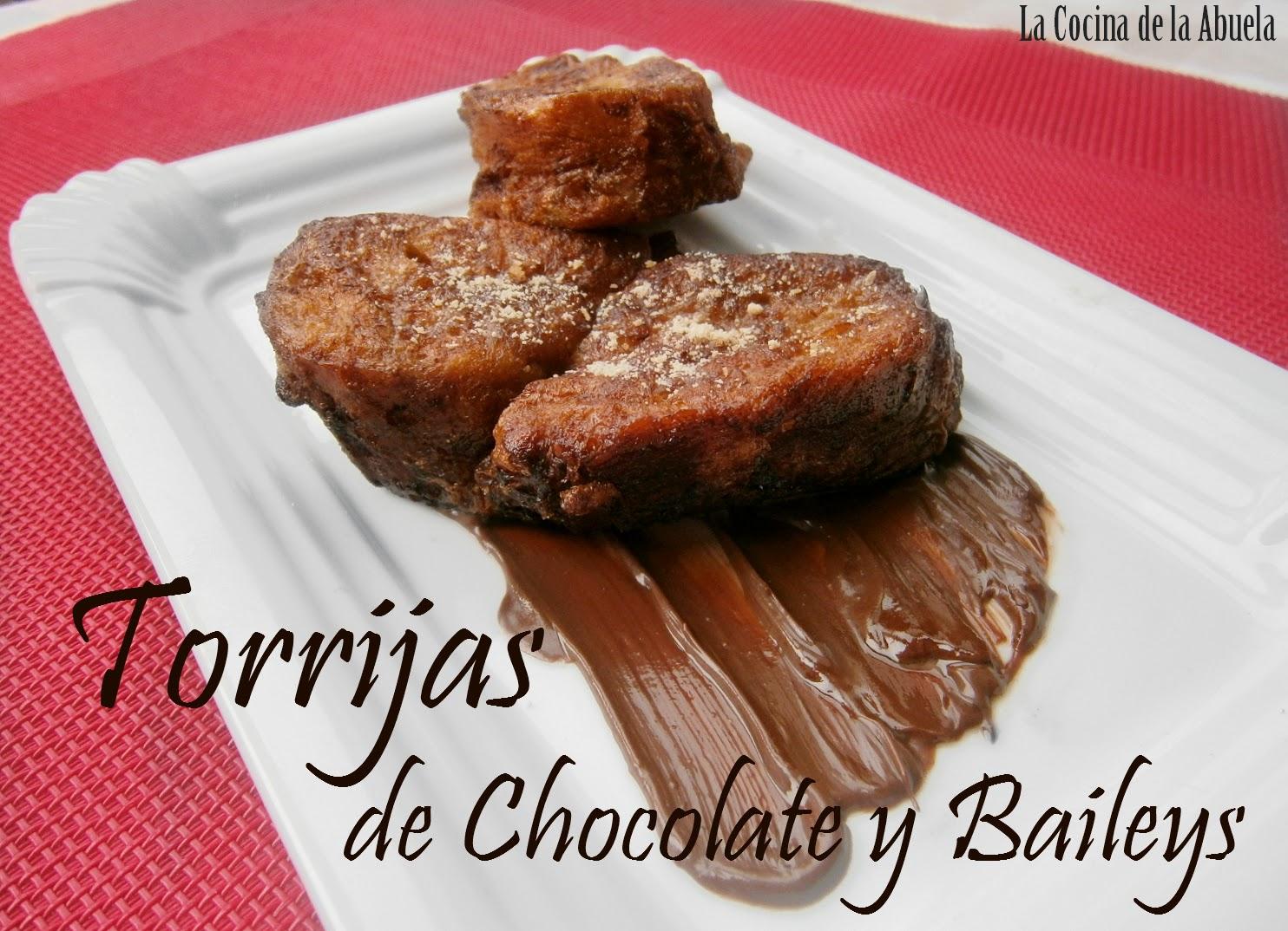 Torrijas de Chocolate y Baileys