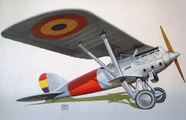 Hispano-Nieuport Nid 52 por Carlos Alonso Aviationart