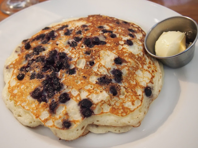 blueberry pancakes from Noah's in Stonington