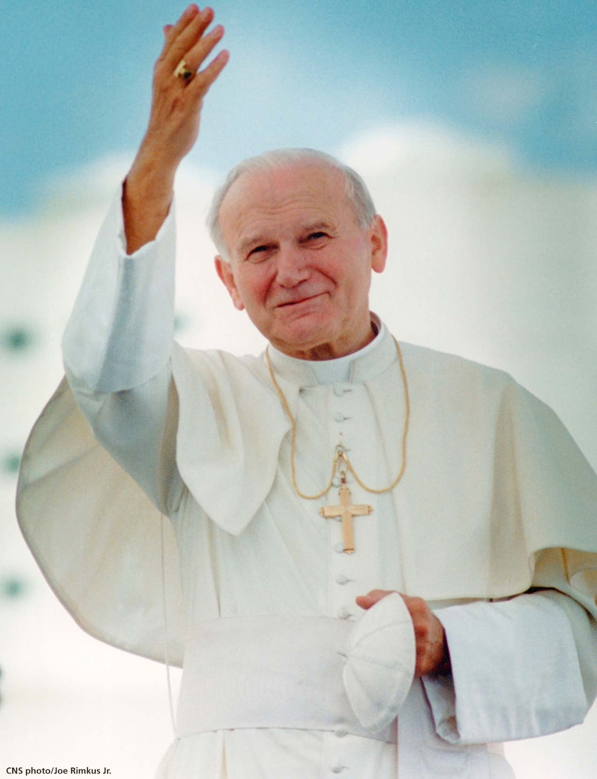 John Paul II, the Polish cleric was a personal friend of Teresa and as the pope at the time of her death, he was responsible for her being beatified in 2003.