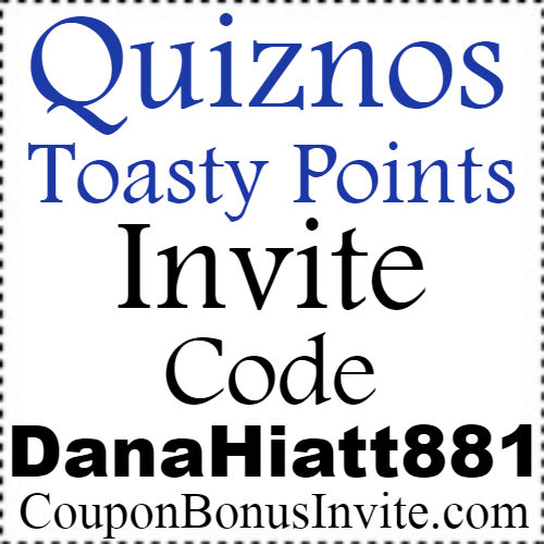 Quiznos Toasty Points Invite Code 2017, Quiznos Toasty Points App Reviews, Quiznos Toasty Points Refer A Friend Bonus