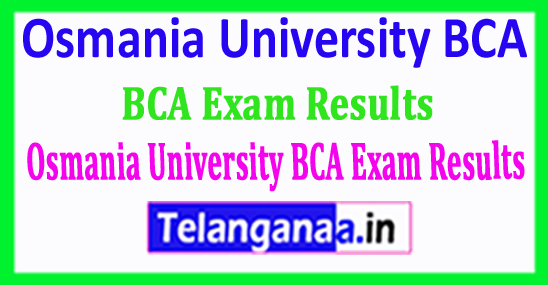 Osmania University BCA Exam Results 2018 Download