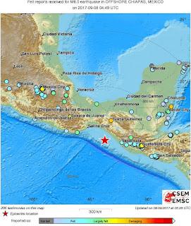 Ισχυρός σεισμός 8 Ρίχτερ στο Μεξικό