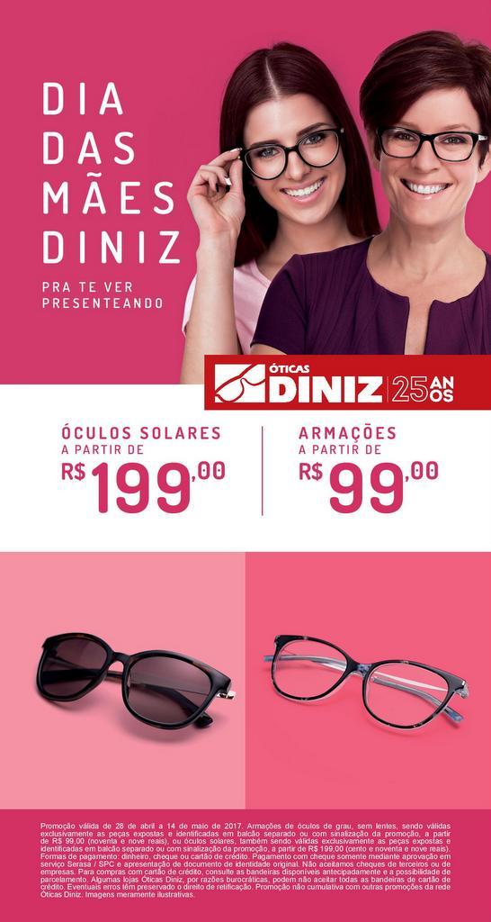 c267812fc1262 Promoção Dia das Mães na Ótica Diniz Goiana
