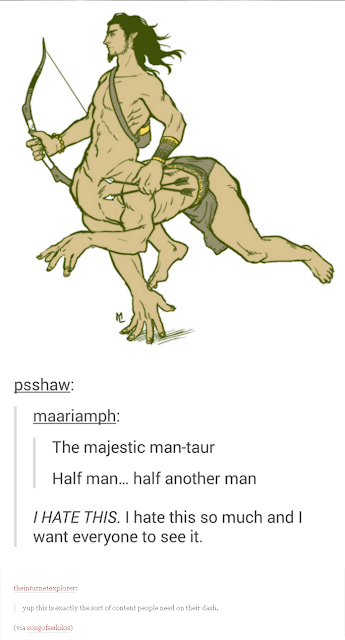 its the man taur with comments!