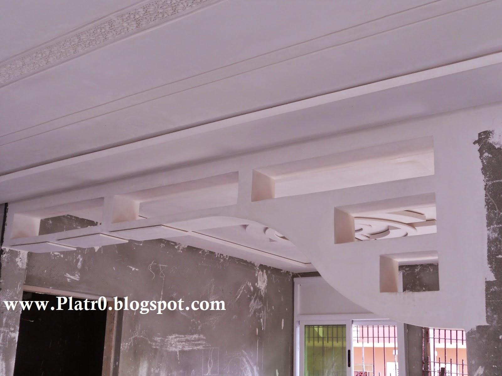 Decor Platre Moderne Arc Décoration Platre Maroc Faux Plafond