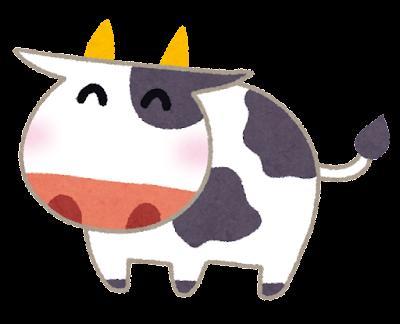 牛のイラスト(丑年)