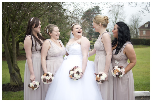 Real Bridesmaids In Beige Bridesmaid Dresses: Real Fairy-Tale Dress Wedding: Kirsty & Michael