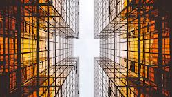 Urban Style. Glass Skyscrapers 4K