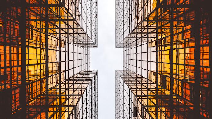 Wallpaper: Urban Style. Glass Skyscrapers
