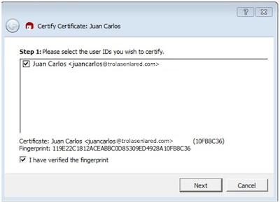 Importar certificado Kleopatra