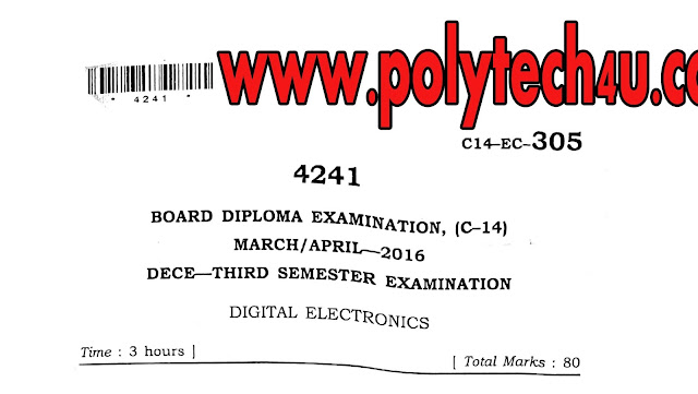 DIGITAL ELECTRONICS OLD QUESTION PAPER C-14 DECE